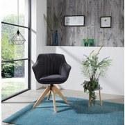 Drehstuhl Belluno Anthrazit - Eichefarben/Anthrazit, MODERN, Holz/Textil (60/88/57,5cm) - MID.YOU