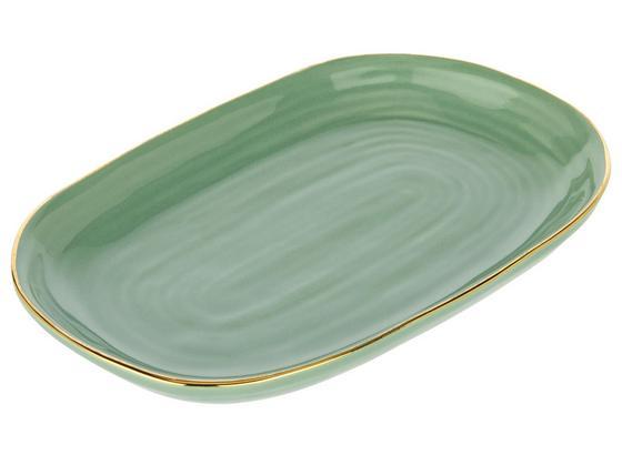 Dekoračný Tanier Doreen - zelená, keramika (17,5/11/2,2cm) - Mömax modern living