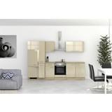 Küchenblock Nepal 300 cm Cremefarben - Kaschmir/Sonoma Eiche, MODERN, Holzwerkstoff (300cm) - MID.YOU