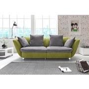 Sofa Modern - Chromfarben/Hellgrau, MODERN, Textil (244/85/115cm)