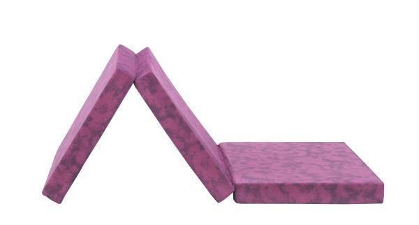 Faltmatratze Billy - Brombeere, Textil (80/190cm) - PRIMATEX