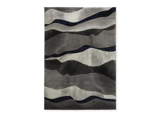 Webteppich Cortez 120x70 cm - Blau/Grau, Basics, Kunststoff (120/170cm) - Ombra