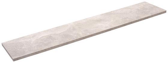 Police Nástěnná Skate 120/20 - šedá, Moderní, dřevěný materiál (120/1,8/20cm)