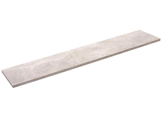 Police Nástěnná Skate 120/20 - šedá, Moderní, kompozitní dřevo (120/1,8/20cm)