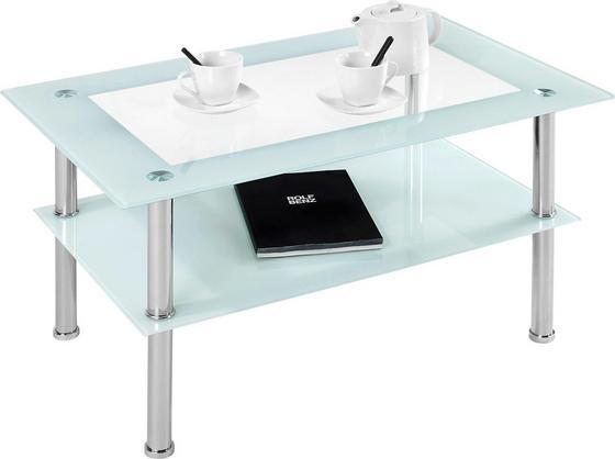 Dohányzóasztal Star - Átlátszó, modern, Fém (90/45/55cm)