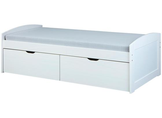 Stauraumbett Einar 90x200 cm Weiß - Weiß, Basics, Holz (205/63/98cm) - Livetastic