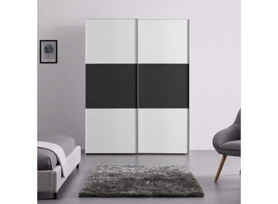 Schwebetürenschrank 167 cm Includo - Anthrazit/Weiß, MODERN, Holzwerkstoff (167/222/68cm)