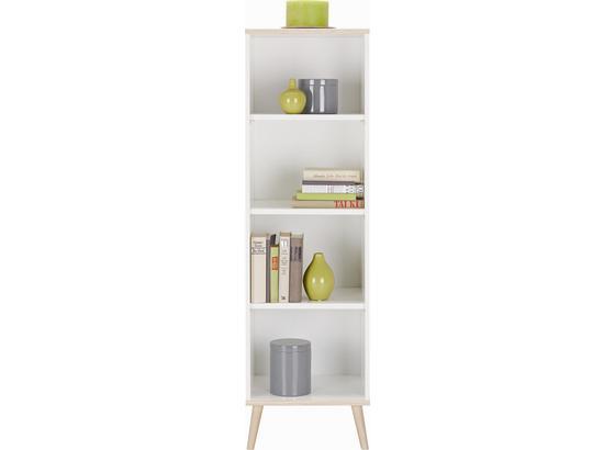 Regál Billund - bílá, Moderní, dřevo/kompozitní dřevo (42/133/40cm) - Modern Living