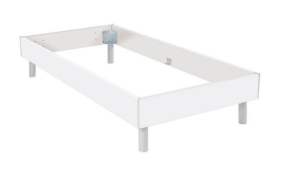 Futonbettrahmen Belia, 90x200 cm - Alufarben, KONVENTIONELL, Holzwerkstoff (90/200cm)