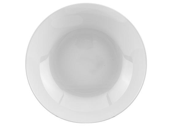 Mélytányér Olivia - Fehér, konvencionális, Üveg (20cm)