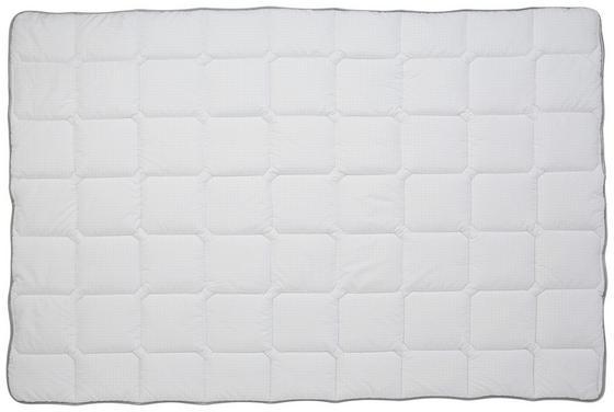 Mikrofaser Einziehdecke Permanent Antibakteriell - Weiß, KONVENTIONELL, Textil (140/200cm)
