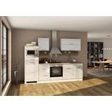 Küchenblock Mailand B: 270 cm Weiss - Eichefarben/Weiß, Basics, Holzwerkstoff (270/200/60cm) - MID.YOU