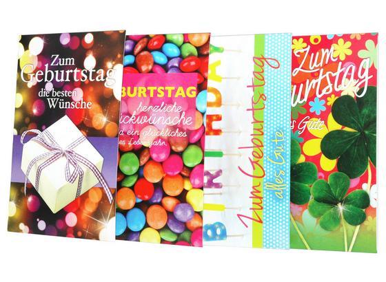 Billett Geburtstag - Multicolor, MODERN, Papier (11,5/17,5cm)