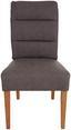 Stuhl Gabriela - Eichefarben/Grau, MODERN, Holz/Textil (48/97/63cm)