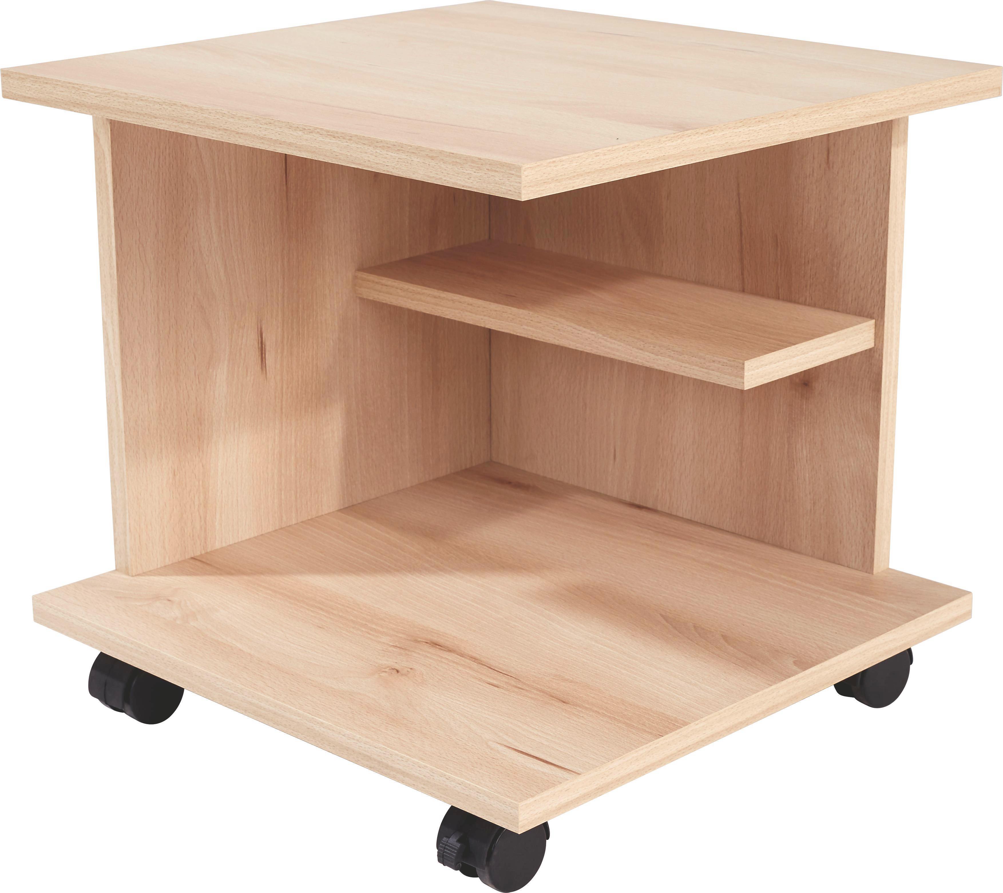Kisasztal Bükk - bükk színű, modern, faanyagok (39/38/38cm)