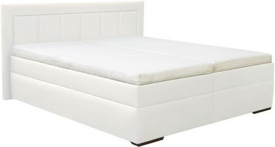 Čalouněná Postel Everyday 2 - bílá, Moderní, textil (202/103/212cm)