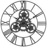 Nástenné Hodiny Gears - čierna, Moderný, kov (70cm) - Mömax modern living