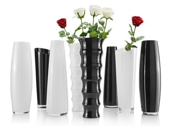 Váza Jenny -top- - bílá/černá, sklo (70cm) - Mömax modern living