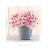 Bild Pink Blossom - Rosa/Weiß, MODERN, Holzwerkstoff/Papier (34/34/1,9cm)