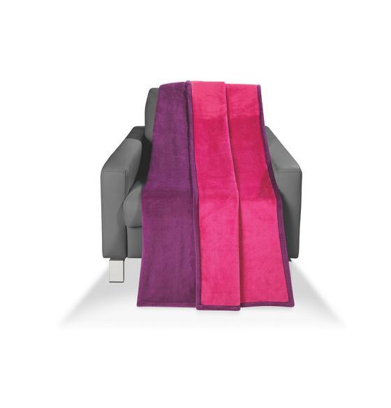 Wohndecke Carmina 150x200 cm - Pink/Violett, KONVENTIONELL, Textil (150/200cm) - Luca Bessoni