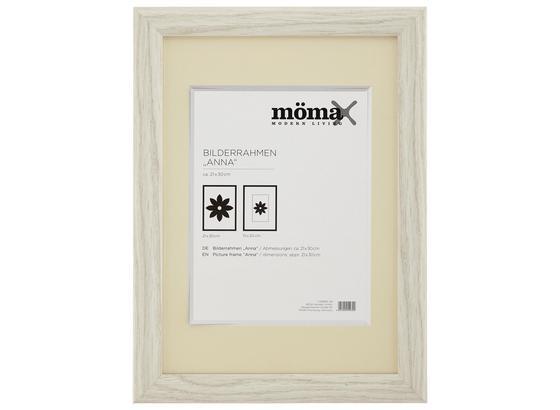 Rám Na Obrazy Anna - bílá, dřevo/sklo (30/21/1.5cm) - Modern Living