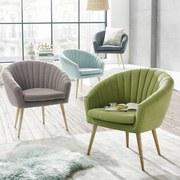 Kreslo Bea -exklusive- - zelená, Moderný, textil (75/77/45/66cm)