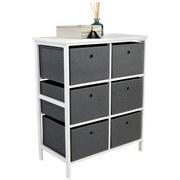 Regal inkl. Boxen Oliver B 70cm, Weiß/Grau - Weiß/Grau, MODERN, Holzwerkstoff/Textil (70/80/30cm)