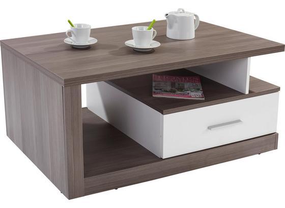 Konferenční Stolek Iguan - bílá/tmavě šedá, Moderní, kompozitní dřevo/umělá hmota (110/45/67cm)