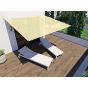 Sonnensegel Rechteck 3x2,5 M - Creme, MODERN, Textil (300/250cm)