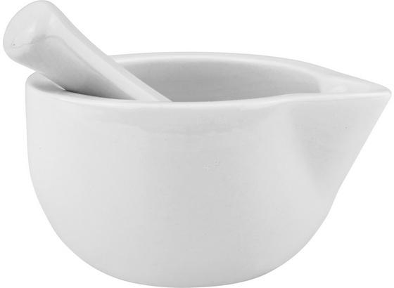 Sada Hmoždířů Aaron - bílá, keramika (11/12/11cm)