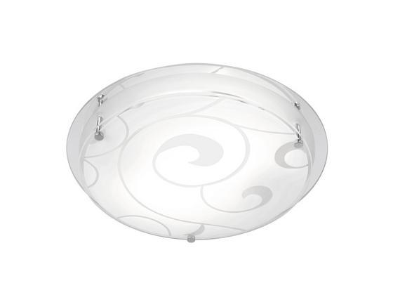 Deckenleuchte Erik - Weiß, KONVENTIONELL, Glas/Metall (32/8cm) - Ombra
