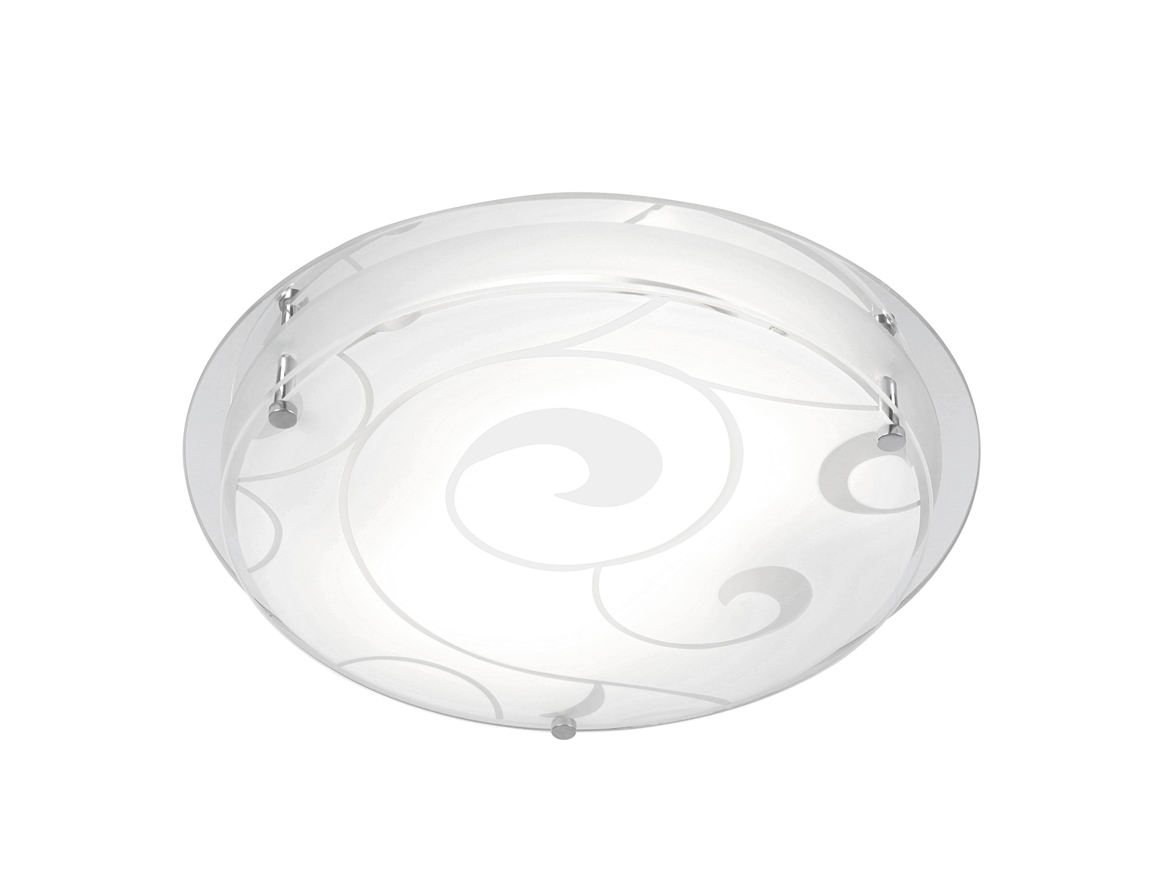 Mennyezeti Lámpa Erik - fehér, konvencionális, üveg/fém (32/8cm)