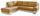 Wohnlandschaft in L-Form Nardo 221x264 cm - Chromfarben/Dunkelgelb, MODERN, Textil (221/264cm)