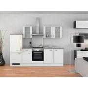 Küchenblock Wito 270 cm Weiß - Edelstahlfarben/Weiß, MODERN, Holzwerkstoff (270cm) - MID.YOU