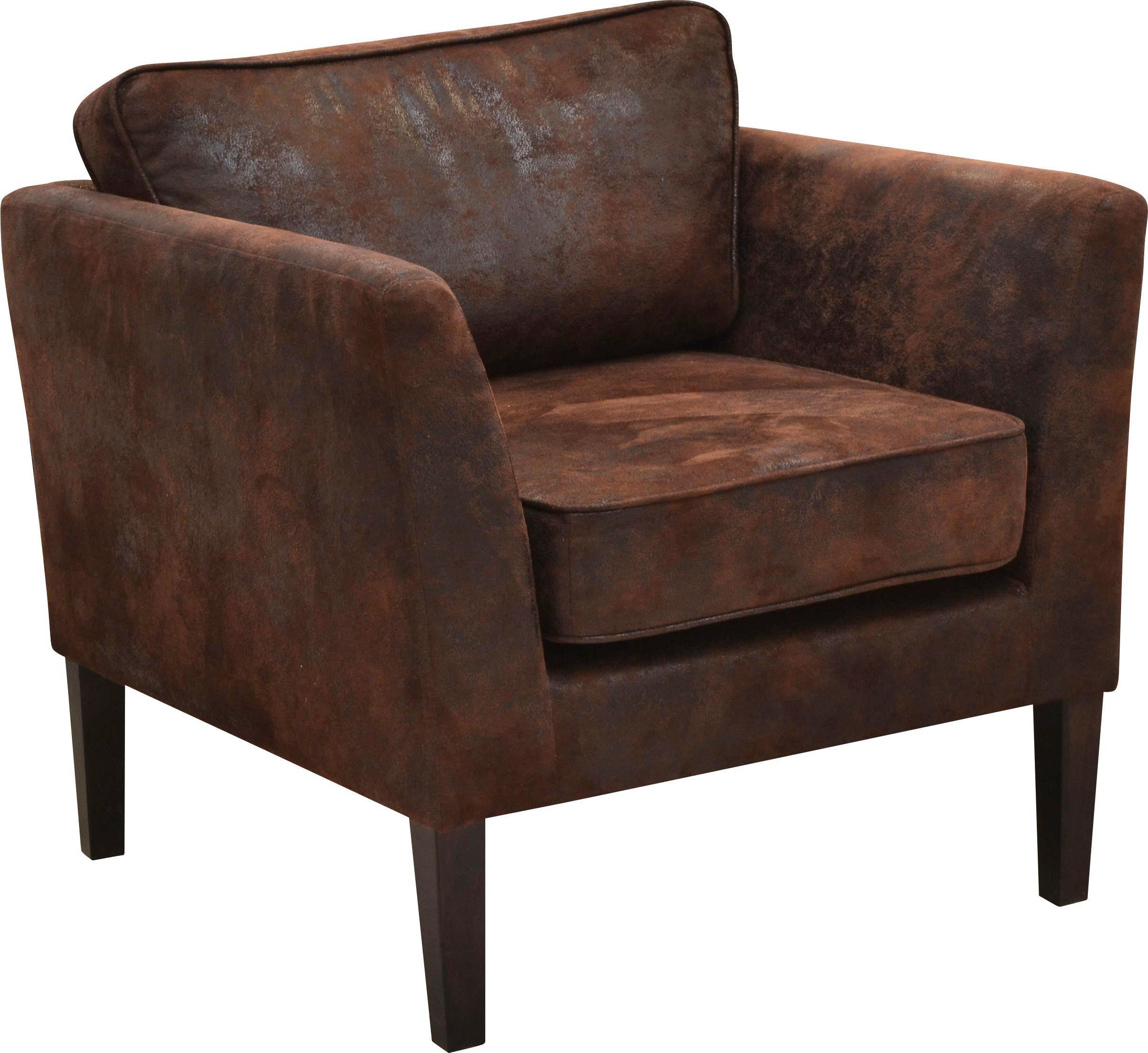 Křeslo Gina - hnědá, Romantický / Rustikální, textil (78/46/78cm)