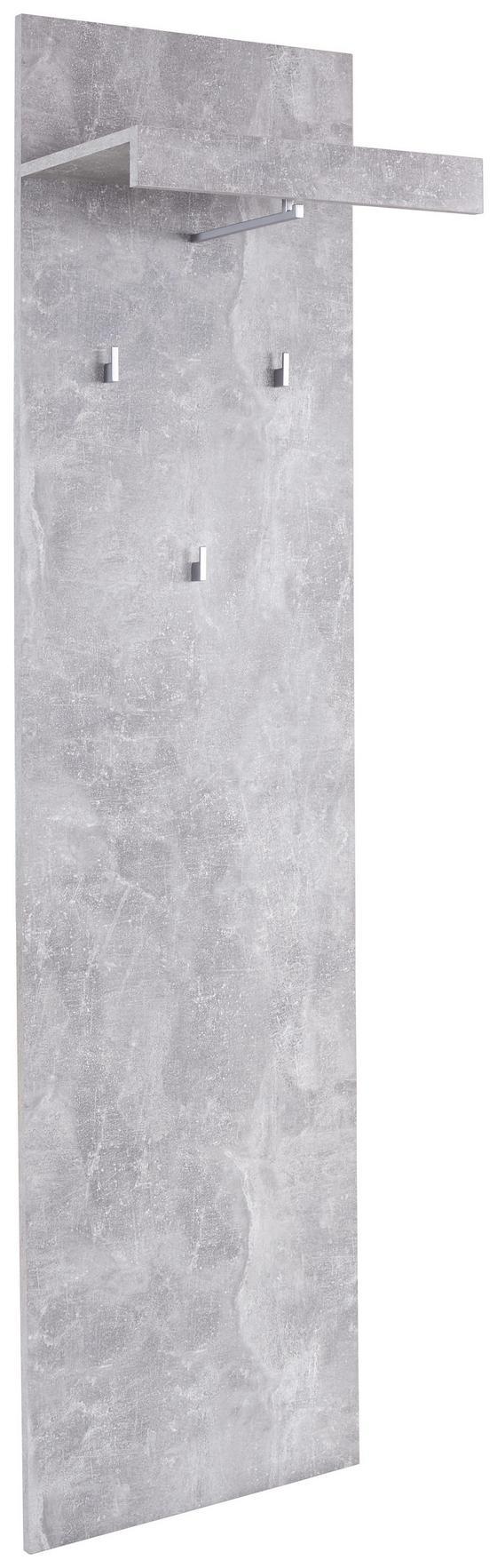 Garderobenpaneel Malta - Grau, MODERN, Holzwerkstoff (50/195,4/28,2cm)