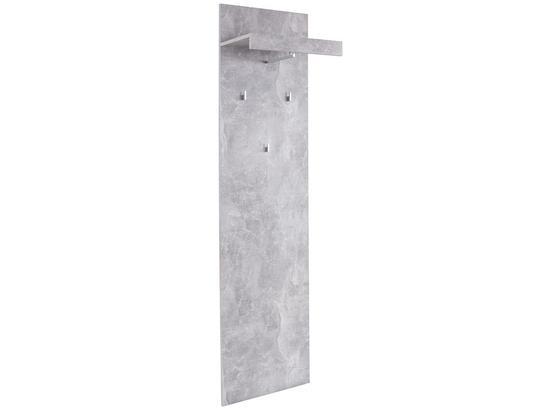 Vešiakový Panel Malta - sivá, Moderný, kompozitné drevo (50/195,4/28,2cm)