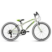 Kinderfahrrad Kinderrad 24'' Scrawler 156k - Weiß/Grün, Basics, Metall (180/70/80cm)