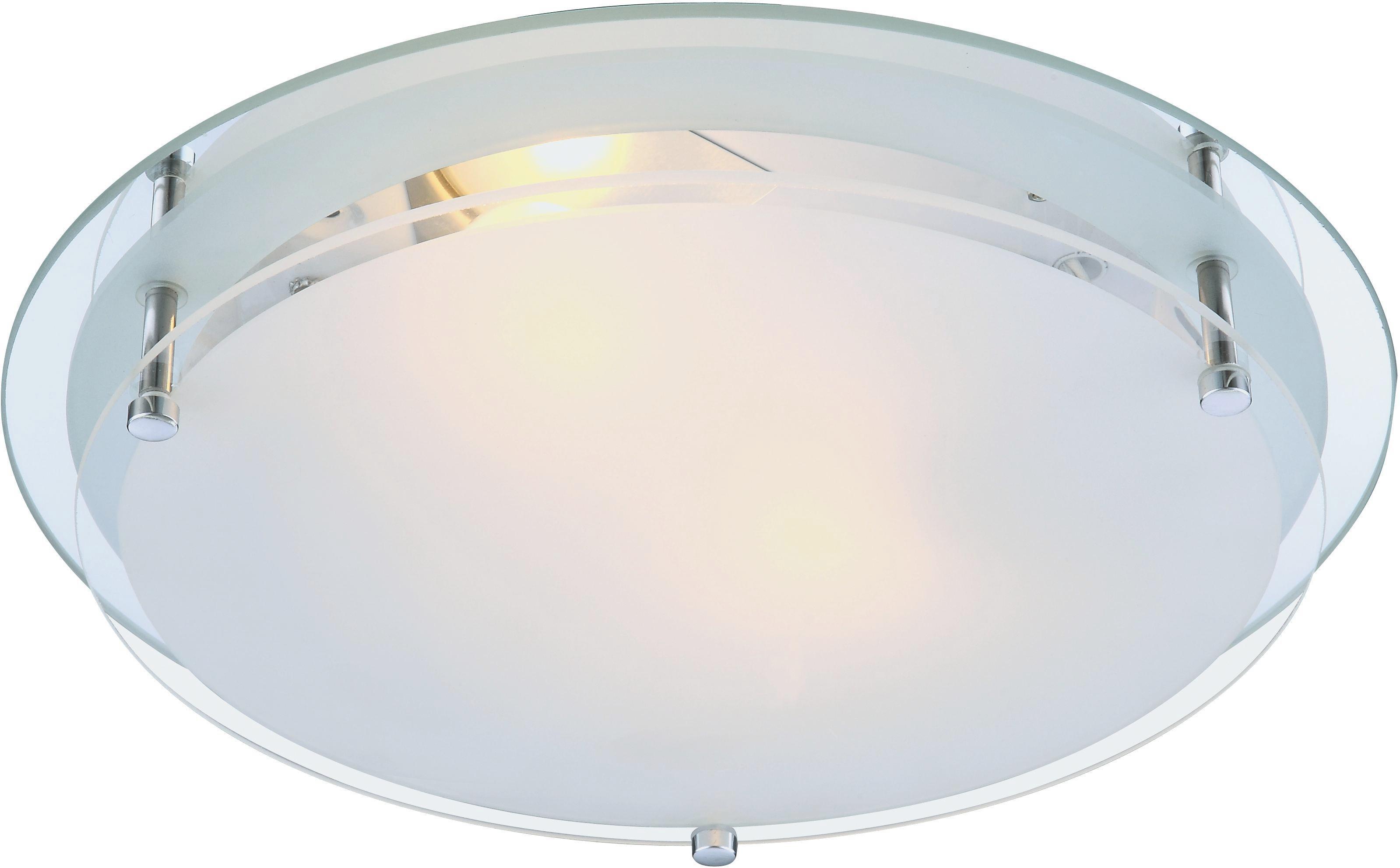 Stropná Lampa Adam - Konvenčný, kov/sklo (31.5/7.5cm)