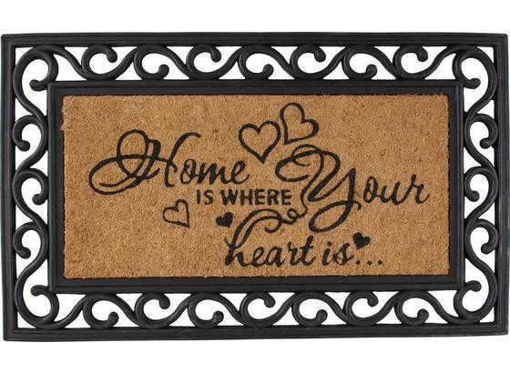 Dveřní Rohožka Hearts - hnědá, Romantický / Rustikální, textil/umělá hmota (40/60cm) - Mömax modern living