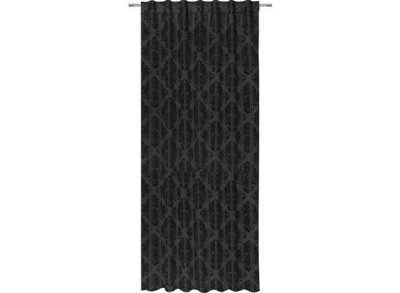 Záves S Pútkami Charles - čierna, Štýlový, textil (140/245cm) - Mömax modern living