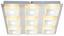 LED-Deckenleuchte Quadralla - MODERN, Kunststoff/Metall (30/30/4cm)