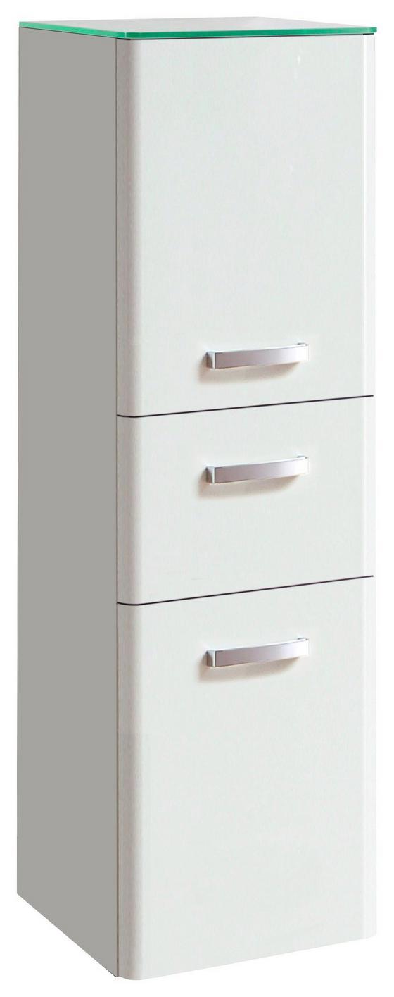 Midischrank Phönix 35 cm Weiß - Weiß, MODERN, Holzwerkstoff (35/114/35cm)