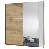 Schwebetürenschrank Stripe B: 180cm - Eichefarben/Braun, MODERN, Holzwerkstoff (180cm) - Carryhome