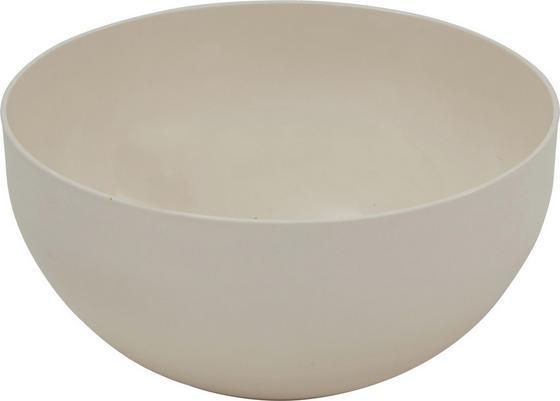 Kunststoff-Schüssel Ganja - Creme, KONVENTIONELL, Kunststoff (28/13,5cm) - James Wood