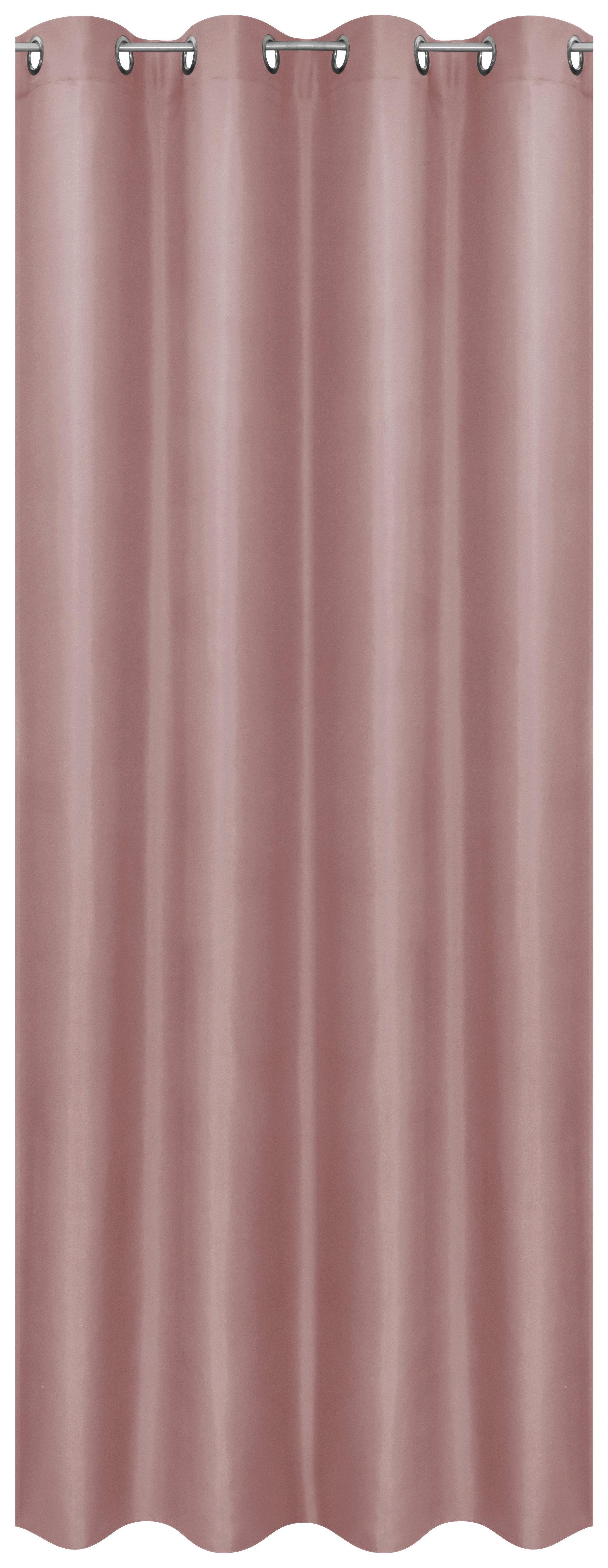 Ösenvorhang rosa