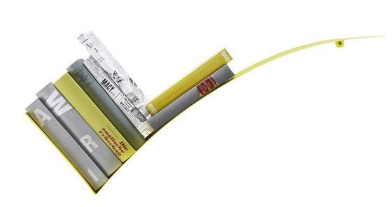Regál Nástěnný Okay - žlutá, kov (30/75/18cm) - Mömax modern living