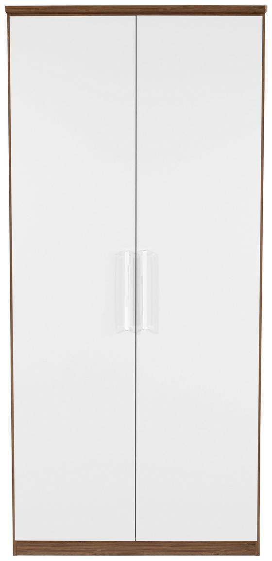 Kleiderschrank Wien 91cm - Eichefarben/Weiß, KONVENTIONELL, Holzwerkstoff (91/212/56cm)