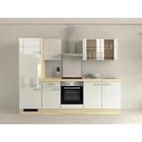 Küchenblock Abaco 270 cm Perlmutt - Perlmutt/Akaziefarben, MODERN, Holzwerkstoff (270/60cm)