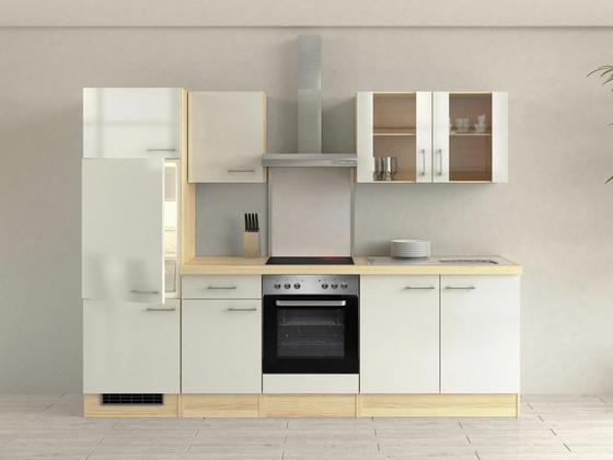 Küchenblock abaco 270 cm perlmutt perlmutt akaziefarben modern holzwerkstoff 270